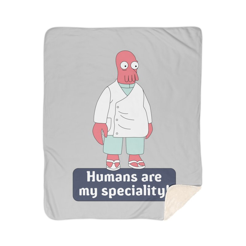 Humans Are My Speciality Home Sherpa Blanket Blanket by Christoph Bartneck's Design Shop