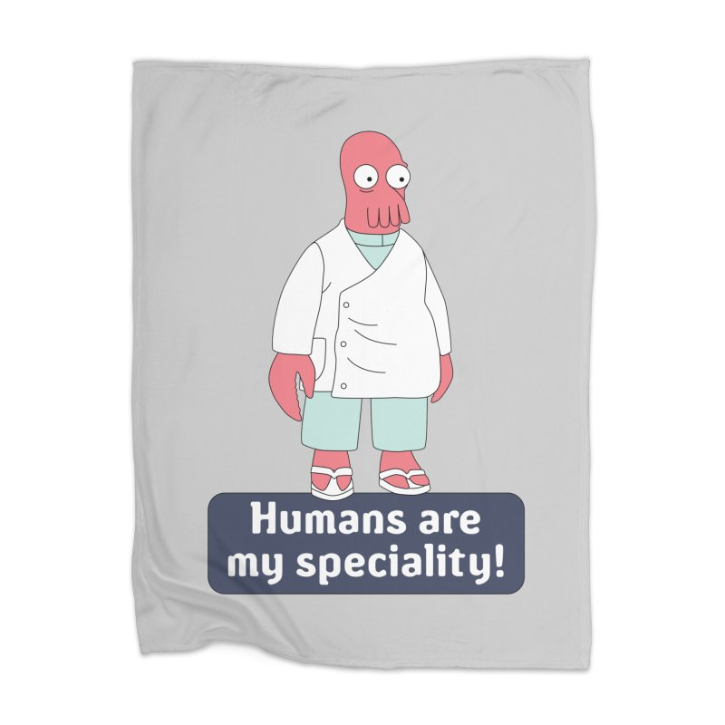 Humans Are My Speciality Home Blanket by Christoph Bartneck's Design Shop