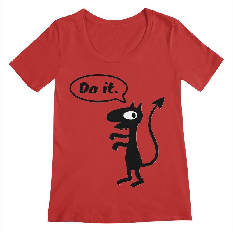 Do it! Women's Scoop Neck by Christoph Bartneck's Design Shop