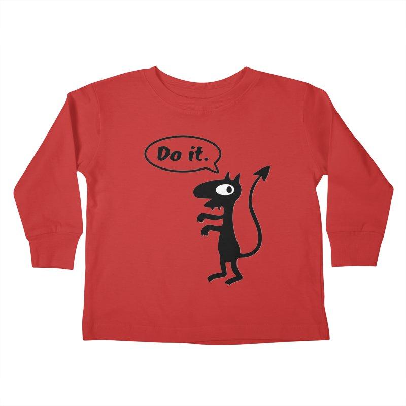 Do it! Kids Toddler Longsleeve T-Shirt by Christoph Bartneck's Design Shop