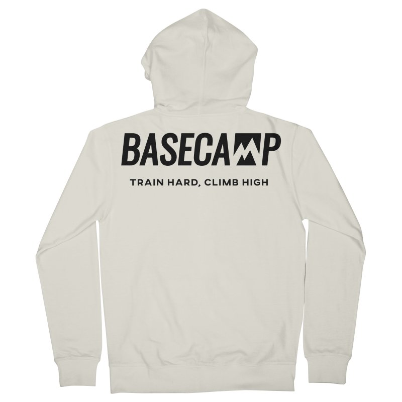 Black logo Men's Zip-Up Hoody by Base Camp Store