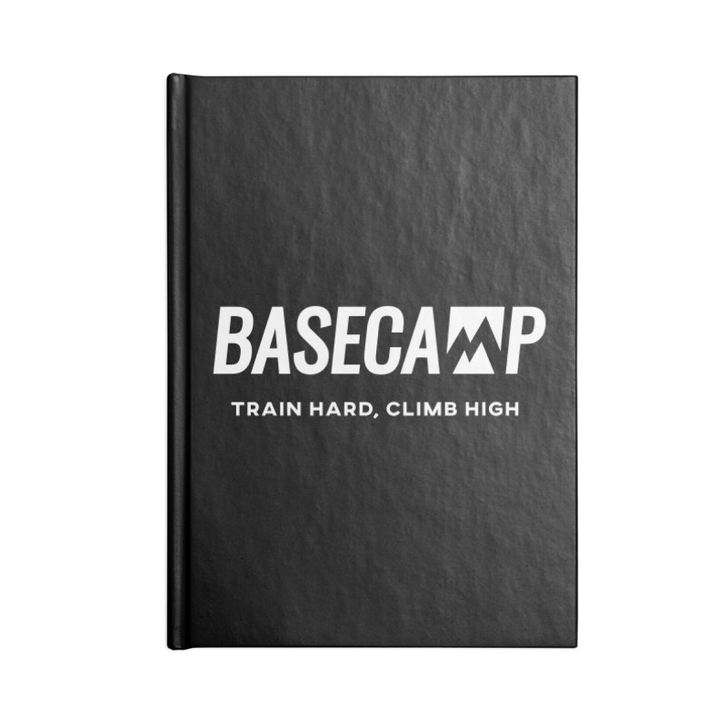 White Logo Accessories Notebook by Base Camp Store