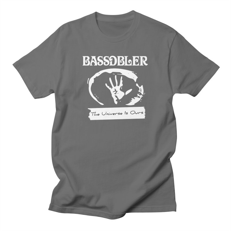 BassDbler - The Universe Is Ours (white) Men's T-Shirt by BassDbler's Artist Shop