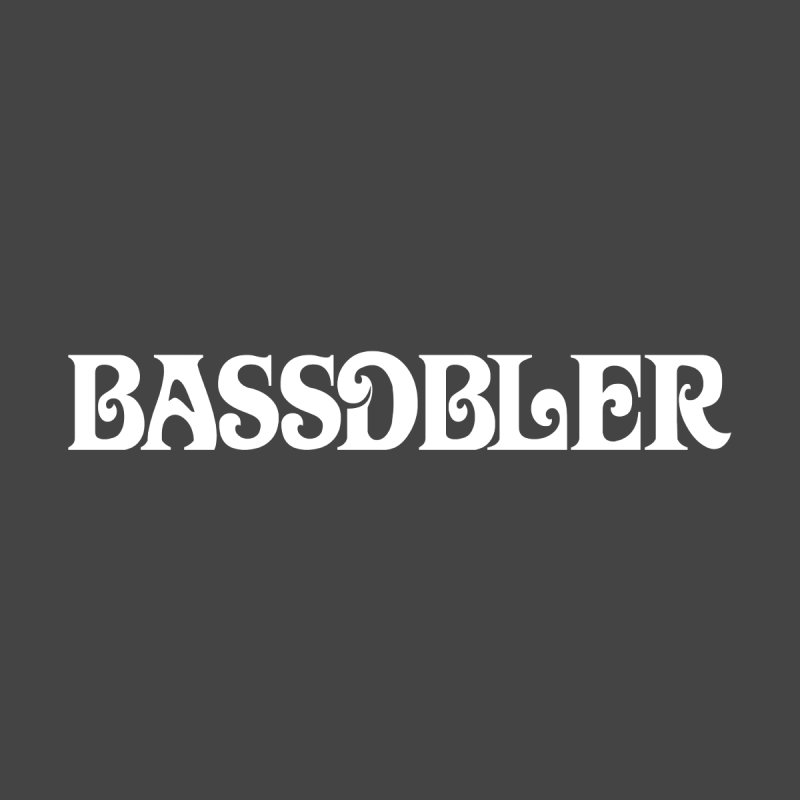 BassDbler (white) Men's T-Shirt by BassDbler's Artist Shop