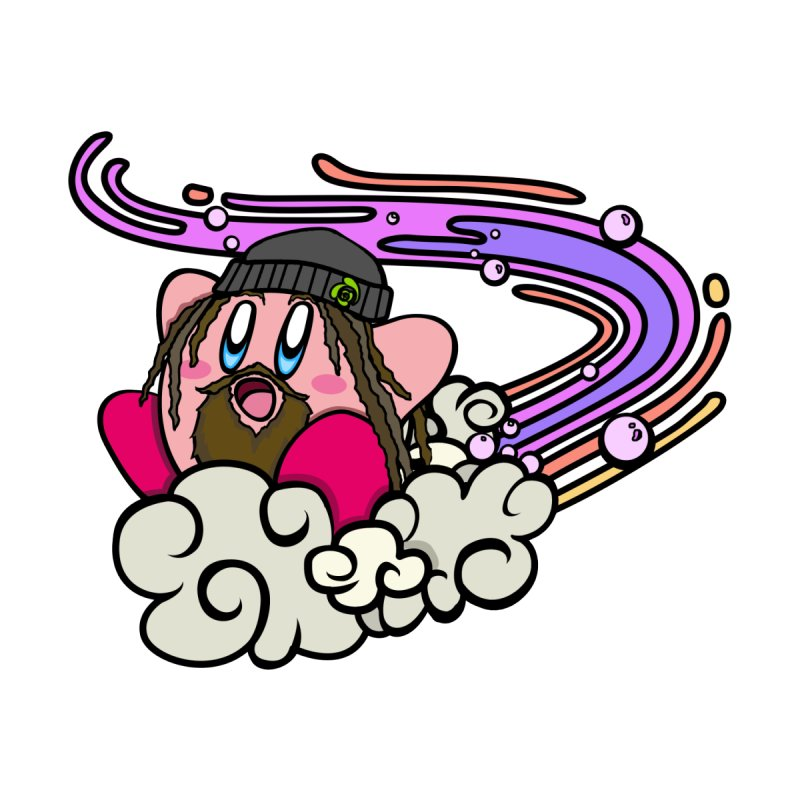 Kirby Bright Dashing (purple) Men's T-Shirt by BassMerch.co