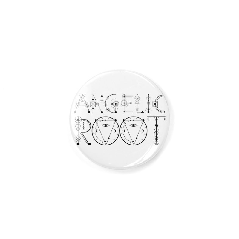 Angelic Root Logo (b) Accessories Button by BassMerch.co