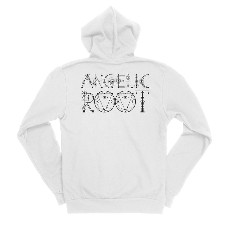 Angelic Root Logo (b) Men's Zip-Up Hoody by BassMerch.co