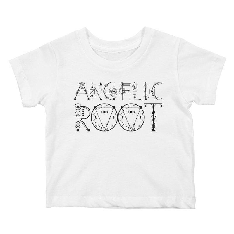 Angelic Root Logo (b) Kids Baby T-Shirt by BassMerch.co