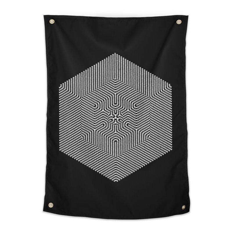 Fibonacci Cube Home Tapestry by BassMerch.co