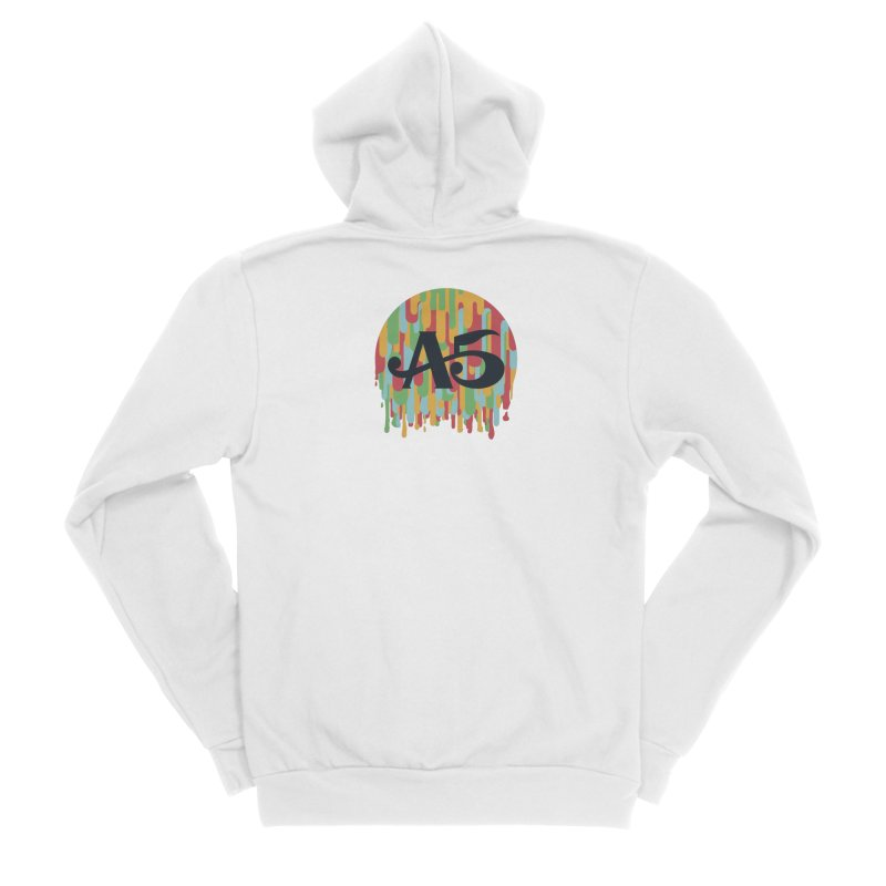 Aisle 5 (Rainbow Drip) Men's Zip-Up Hoody by BassMerch.co