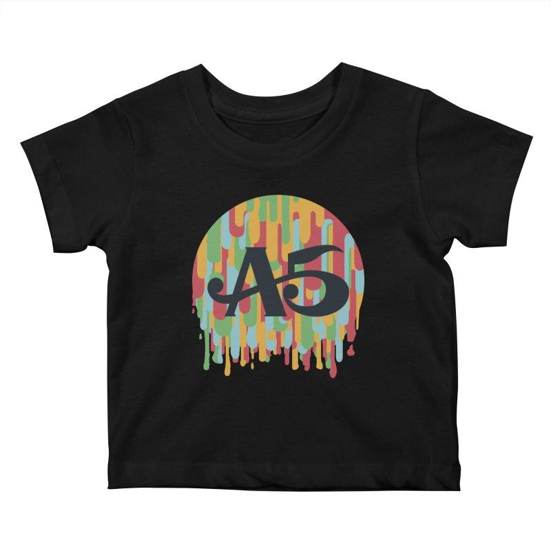 Aisle 5 (Rainbow Drip) Kids Baby T-Shirt by BassMerch.co