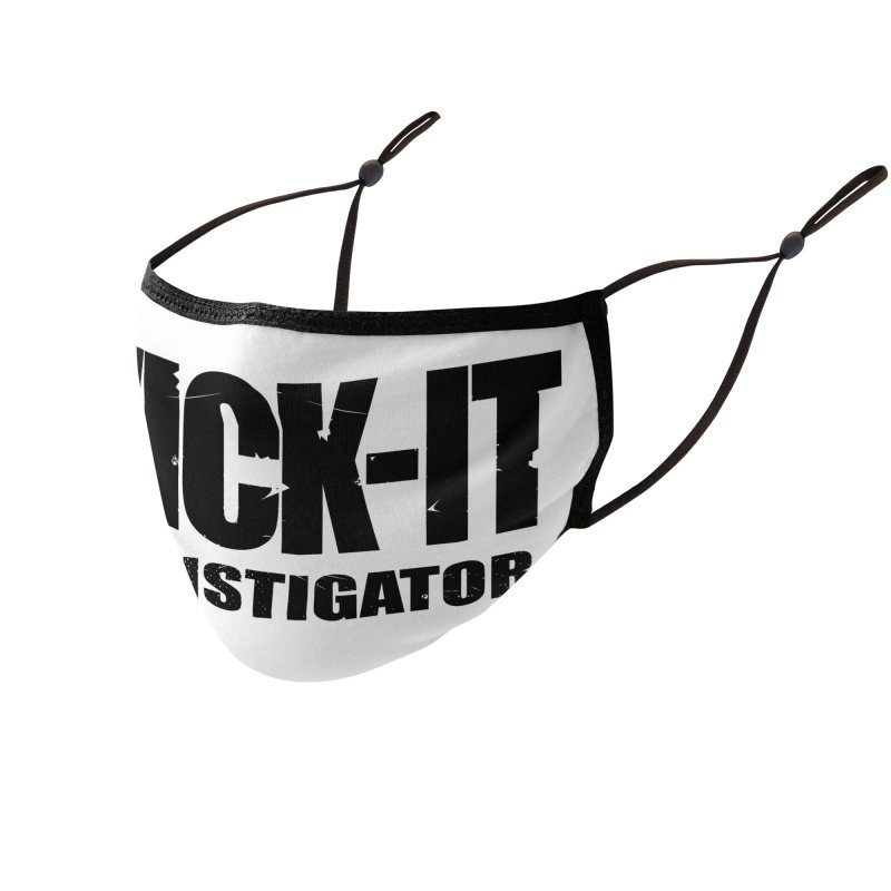 Wick-It The Instigator Logo (b) Accessories Face Mask by BassMerch.co