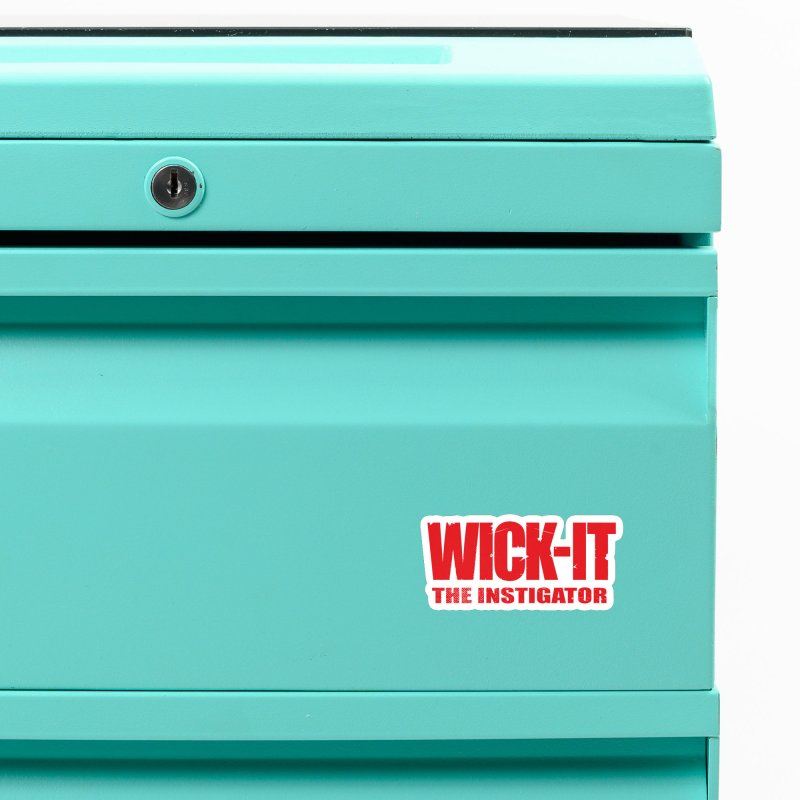 Wick-It the Instigator Logo (r) Accessories Magnet by BassMerch.co