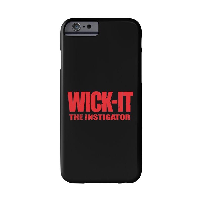 Wick-It the Instigator Logo (r) Accessories Phone Case by BassMerch.co