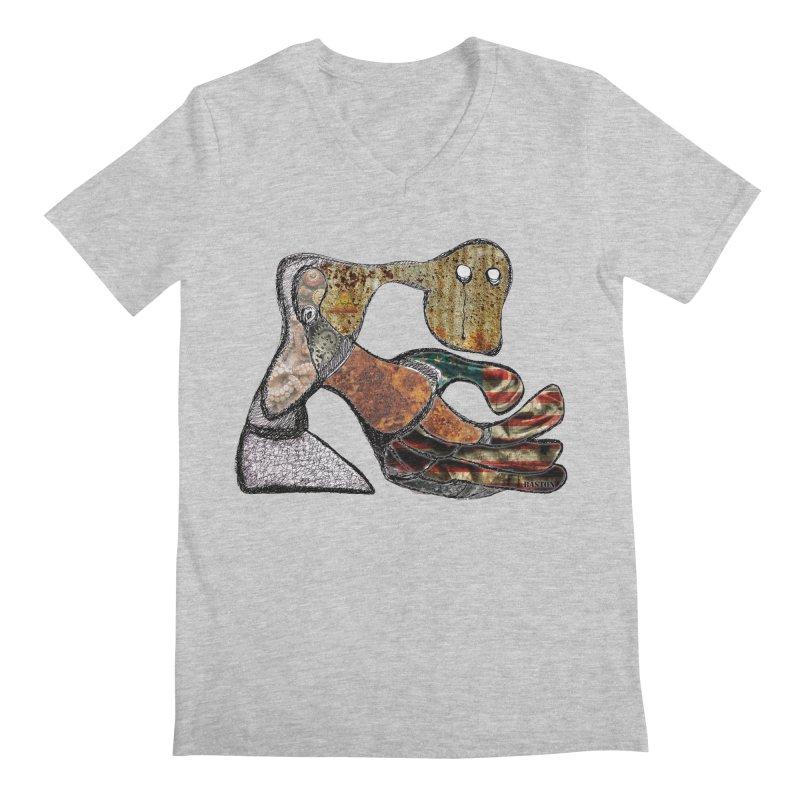 American Angst Men's V-Neck by Baston's T-Shirt Emporium!
