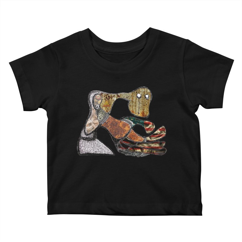 American Angst Kids Baby T-Shirt by Baston's T-Shirt Emporium!