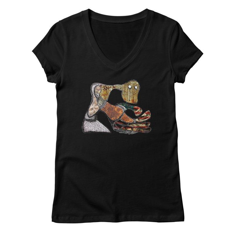 American Angst Women's V-Neck by Baston's T-Shirt Emporium!