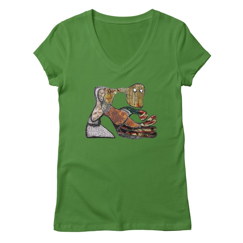American Angst Women's Regular V-Neck by Baston's T-Shirt Emporium!