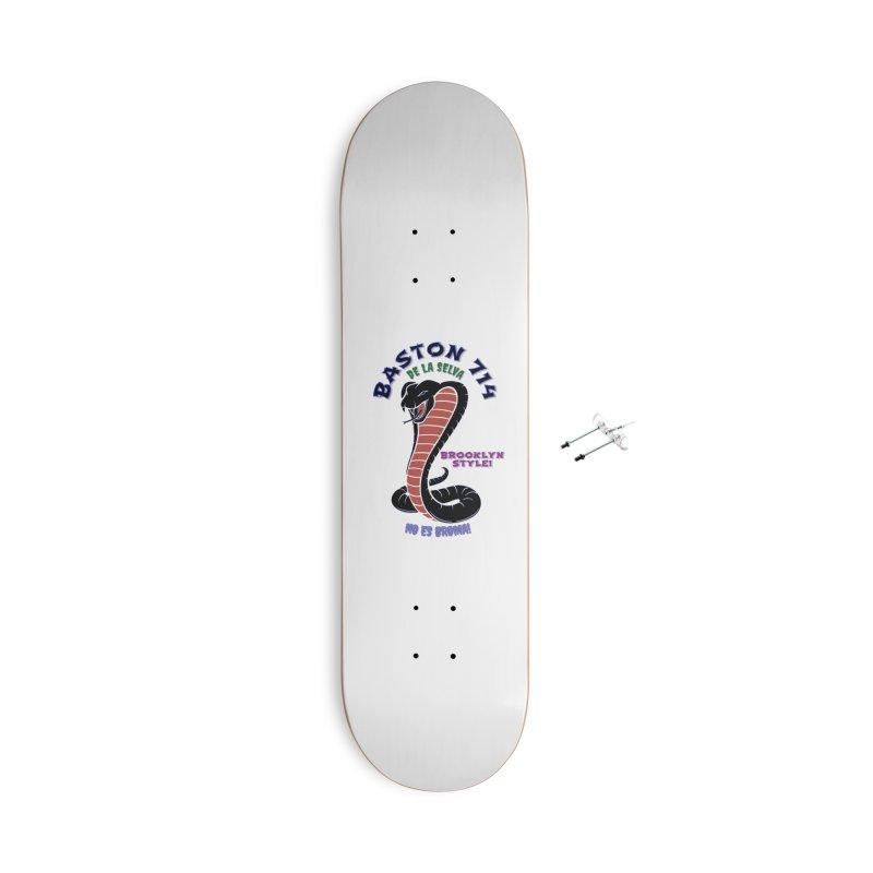 Baston De la Selva Accessories With Hanging Hardware Skateboard by Baston's T-Shirt Emporium!