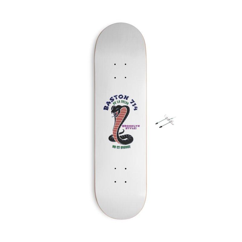 Baston De La Selva! Accessories With Hanging Hardware Skateboard by Baston's T-Shirt Emporium!