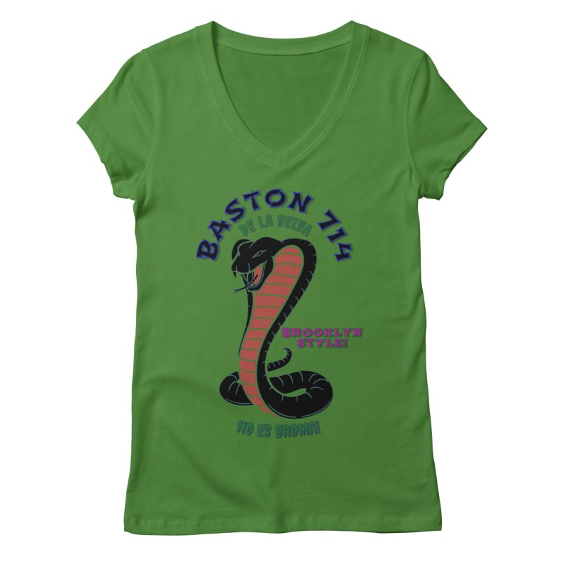 Baston De La Selva! Women's Regular V-Neck by Baston's T-Shirt Emporium!
