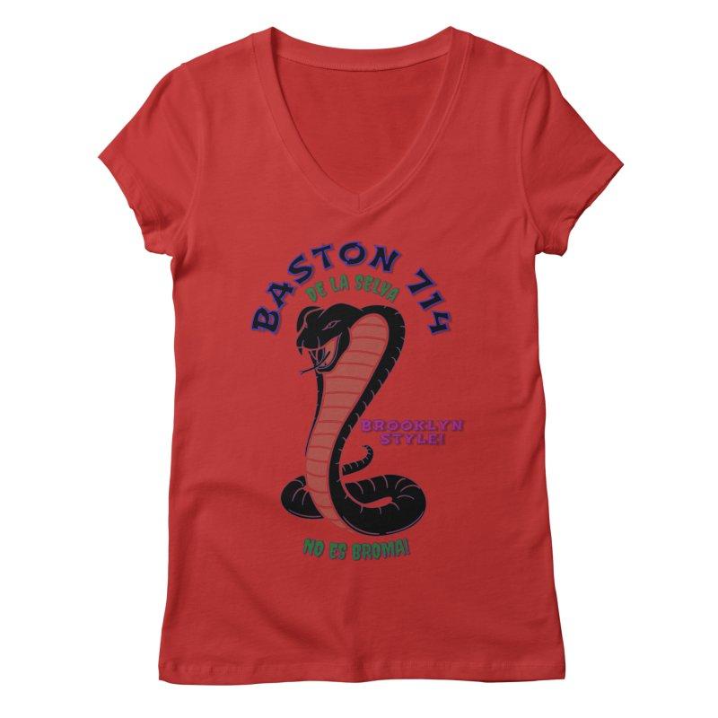 Baston De La Selva! Women's Regular V-Neck by Baston's T-Shirt Emporium!