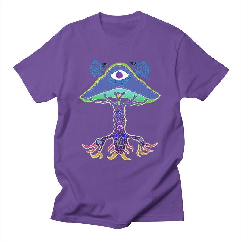Purple Mushroom Medicine Men's T-Shirt by Baston's T-Shirt Emporium!