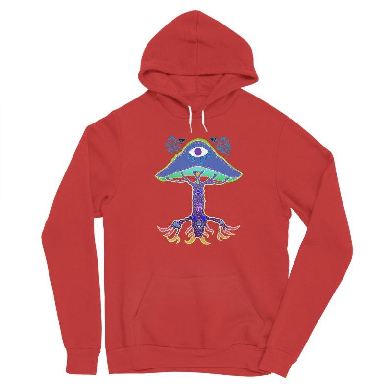 Purple Mushroom Medicine Men's Pullover Hoody by Baston's T-Shirt Emporium!