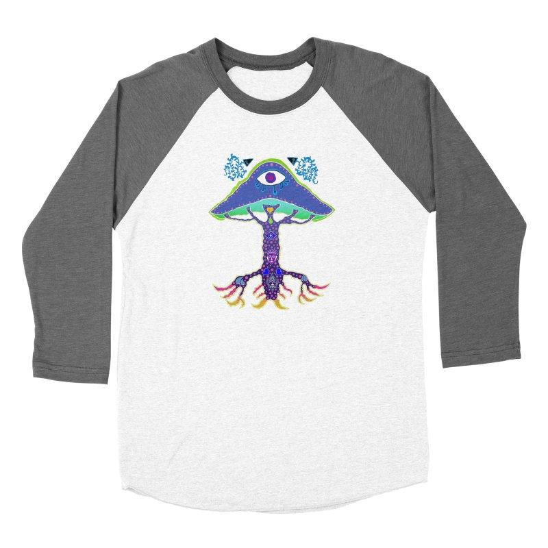 Purple Mushroom Medicine Women's Longsleeve T-Shirt by Baston's T-Shirt Emporium!