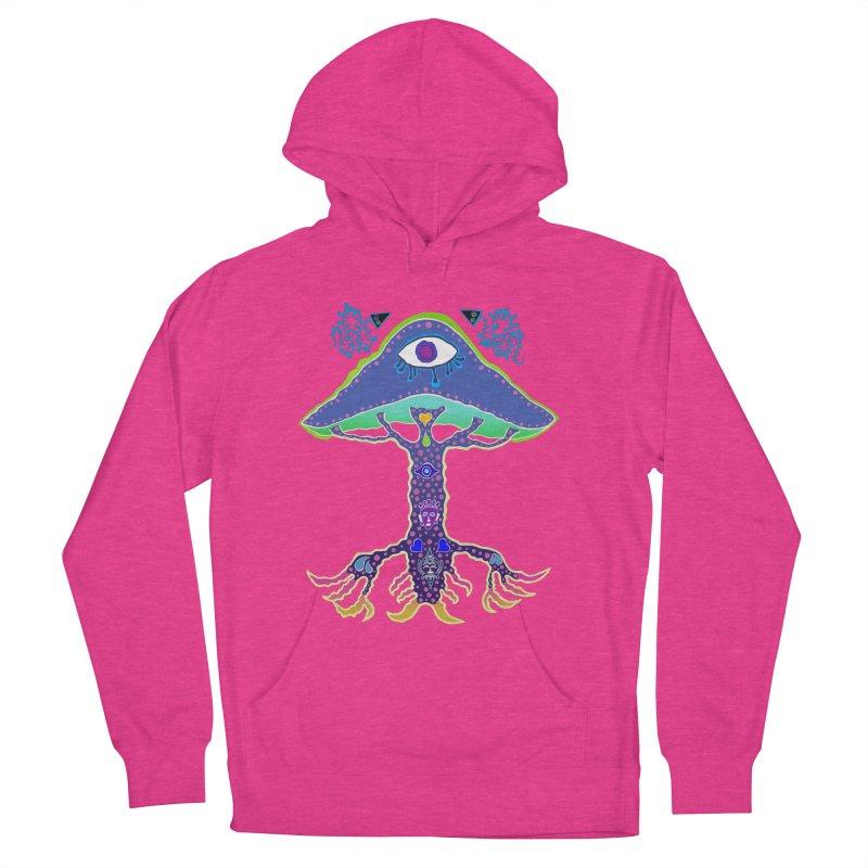 Purple Mushroom Medicine Women's French Terry Pullover Hoody by Baston's T-Shirt Emporium!