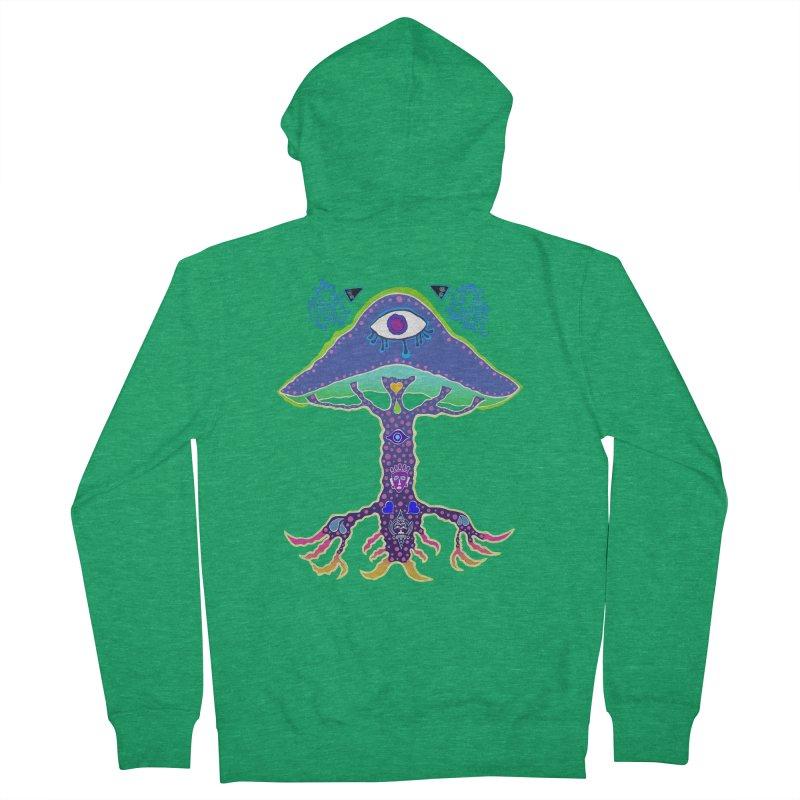 Purple Mushroom Medicine Women's Zip-Up Hoody by Baston's T-Shirt Emporium!