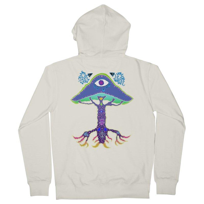 Purple Mushroom Medicine Men's Zip-Up Hoody by Baston's T-Shirt Emporium!