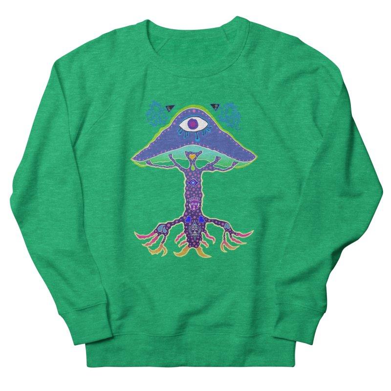 Purple Mushroom Medicine Women's Sweatshirt by Baston's T-Shirt Emporium!