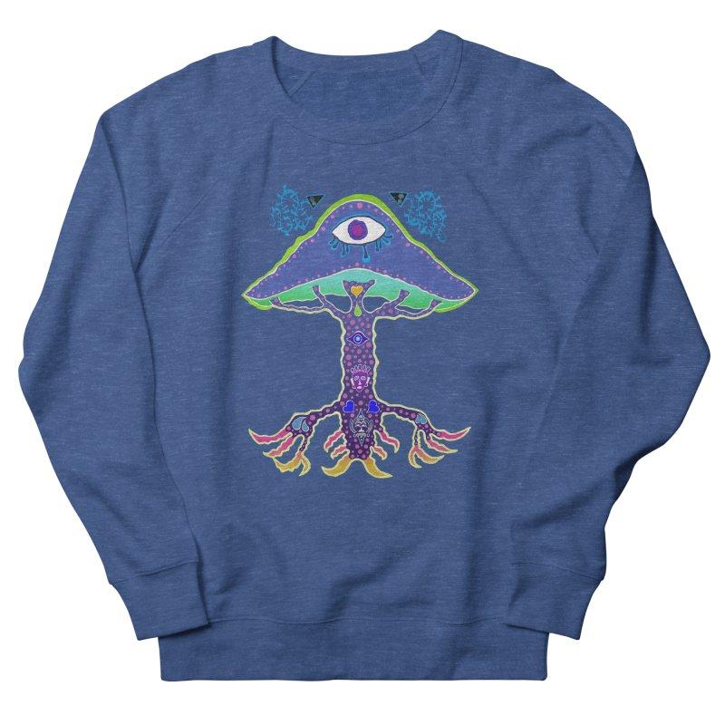 Purple Mushroom Medicine Men's Sweatshirt by Baston's T-Shirt Emporium!