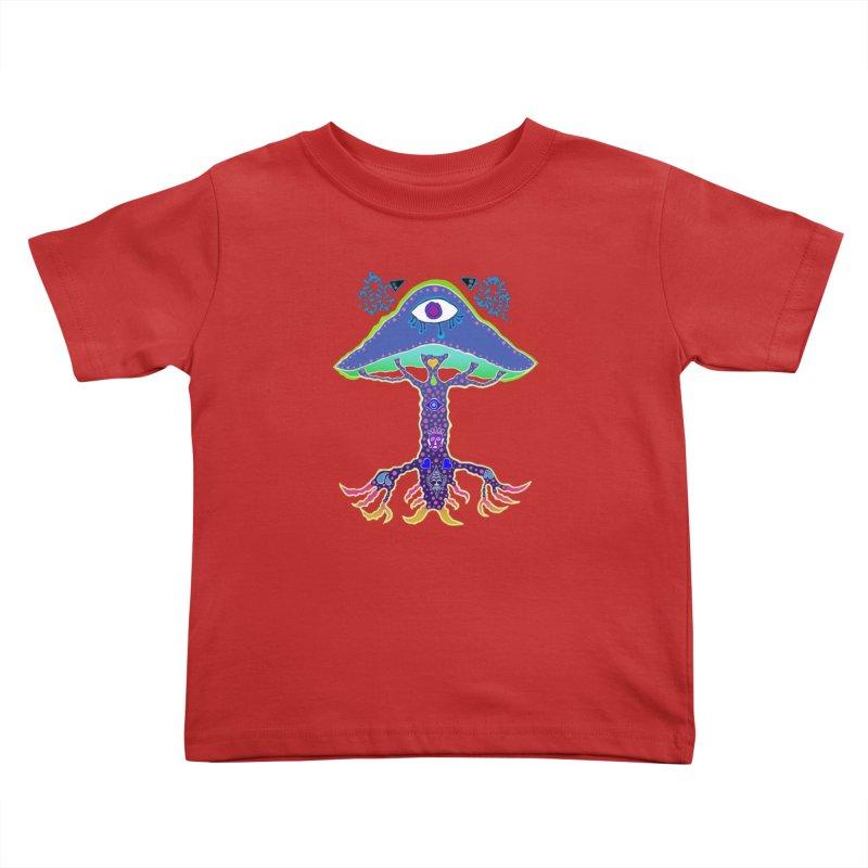 Purple Mushroom Medicine Kids Toddler T-Shirt by Baston's T-Shirt Emporium!
