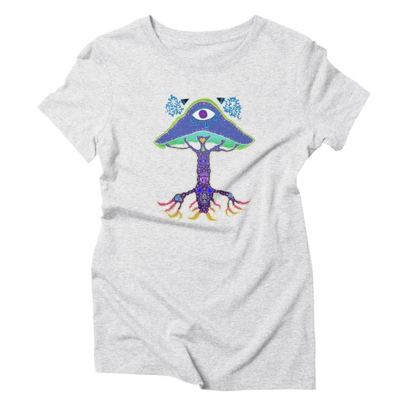 Purple Mushroom Medicine Women's T-Shirt by Baston's T-Shirt Emporium!