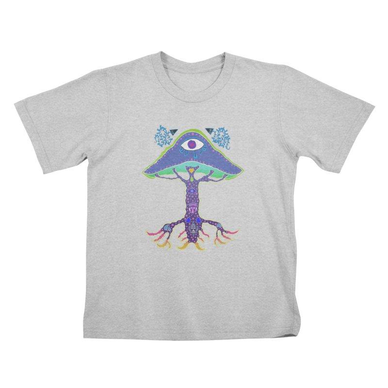 Purple Mushroom Medicine Kids T-Shirt by Baston's T-Shirt Emporium!
