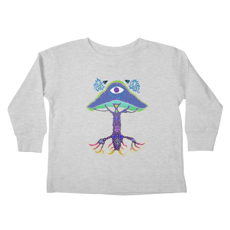 Purple Mushroom Medicine Kids Toddler Longsleeve T-Shirt by Baston's T-Shirt Emporium!
