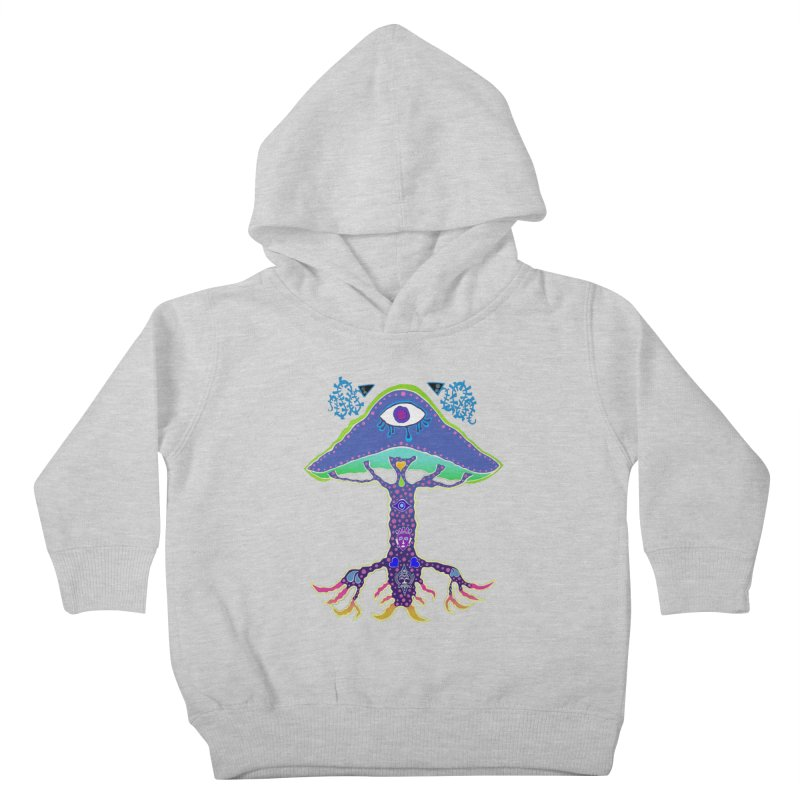 Purple Mushroom Medicine Kids Toddler Pullover Hoody by Baston's T-Shirt Emporium!