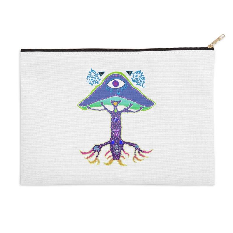 Purple Mushroom Medicine Accessories Zip Pouch by Baston's T-Shirt Emporium!