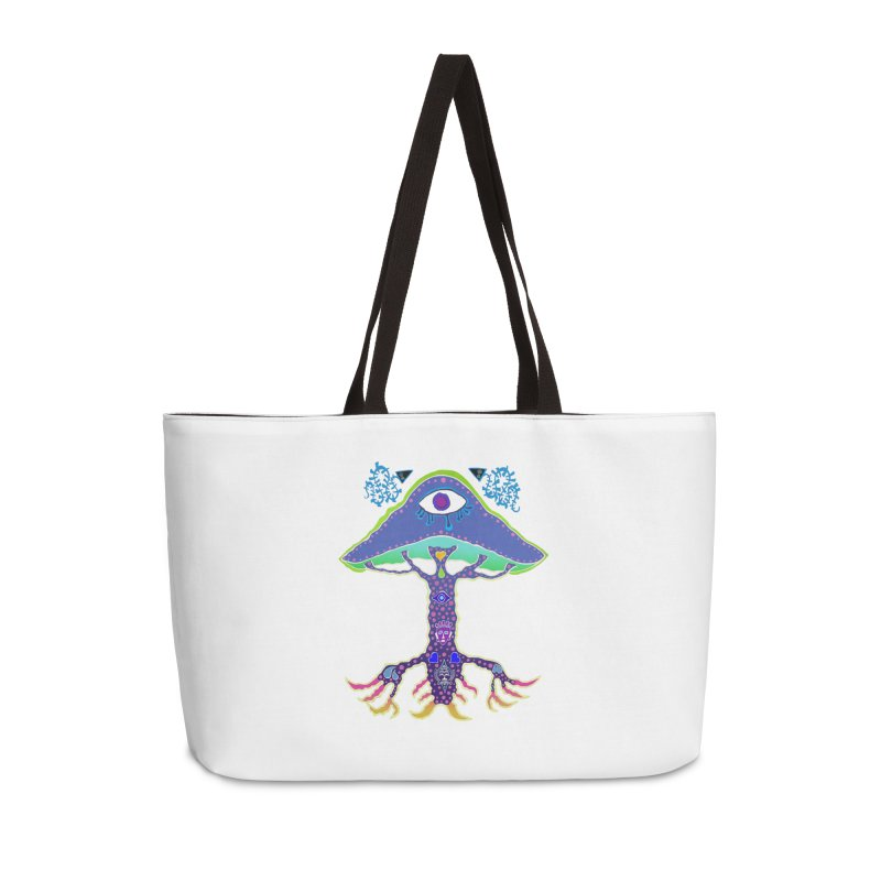 Purple Mushroom Medicine Accessories Bag by Baston's T-Shirt Emporium!