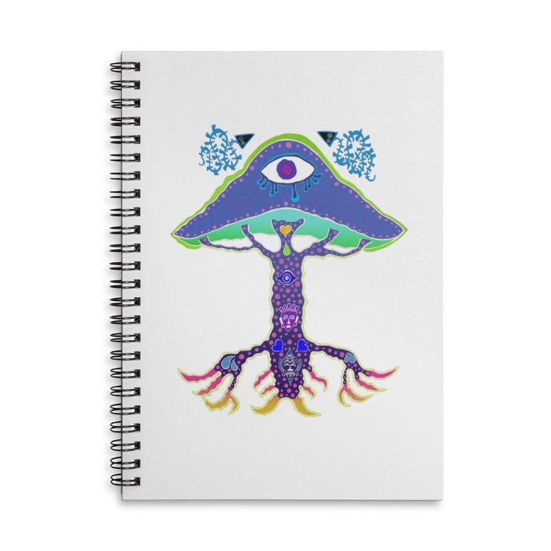 Purple Mushroom Medicine Accessories Notebook by Baston's T-Shirt Emporium!