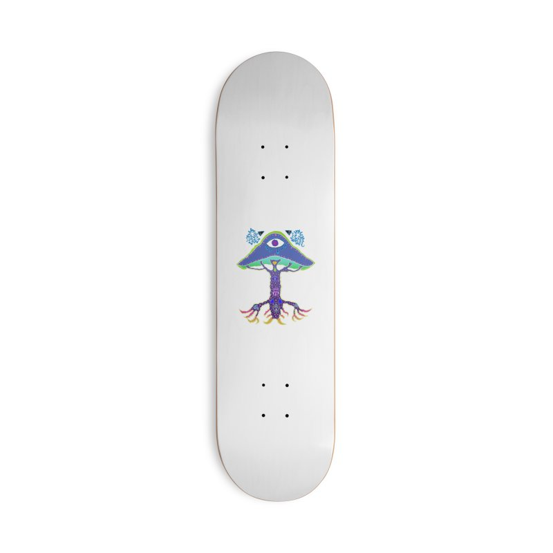 Purple Mushroom Medicine Accessories Skateboard by Baston's T-Shirt Emporium!