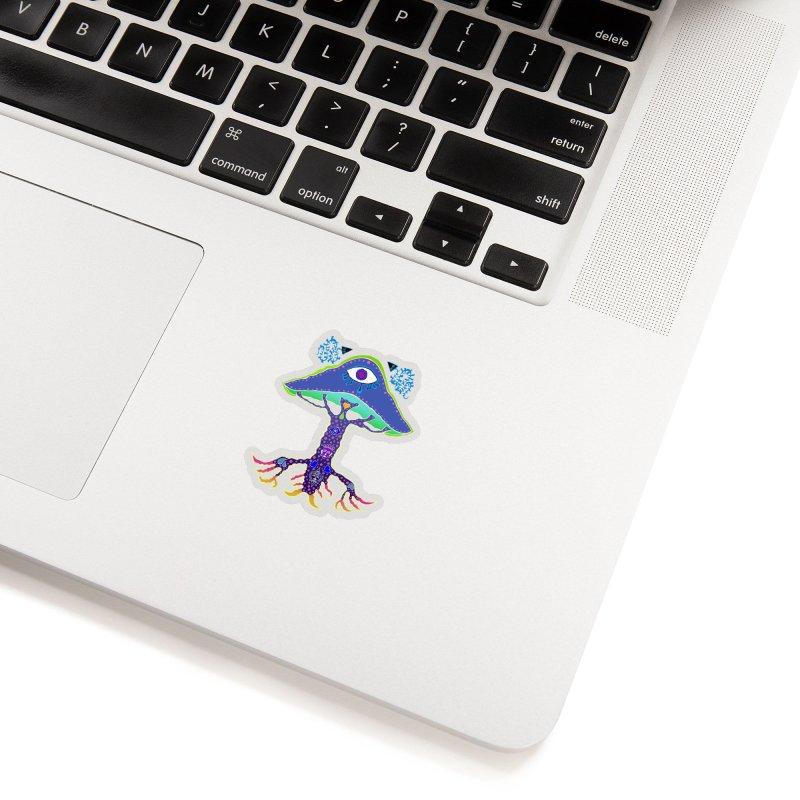 Purple Mushroom Medicine Accessories Sticker by Baston's T-Shirt Emporium!