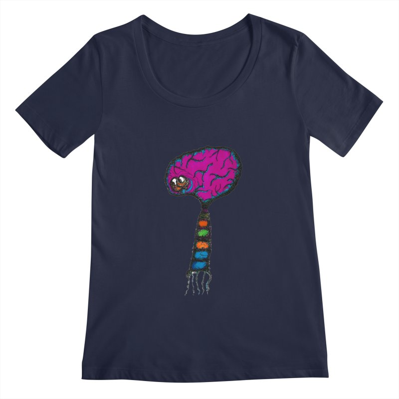 Brainiac Women's Scoopneck by Baston's T-Shirt Emporium!