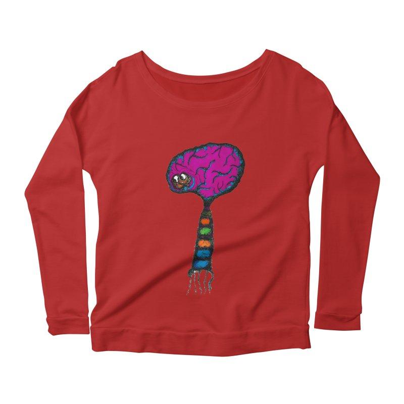 Brainiac Women's Longsleeve Scoopneck  by Baston's T-Shirt Emporium!