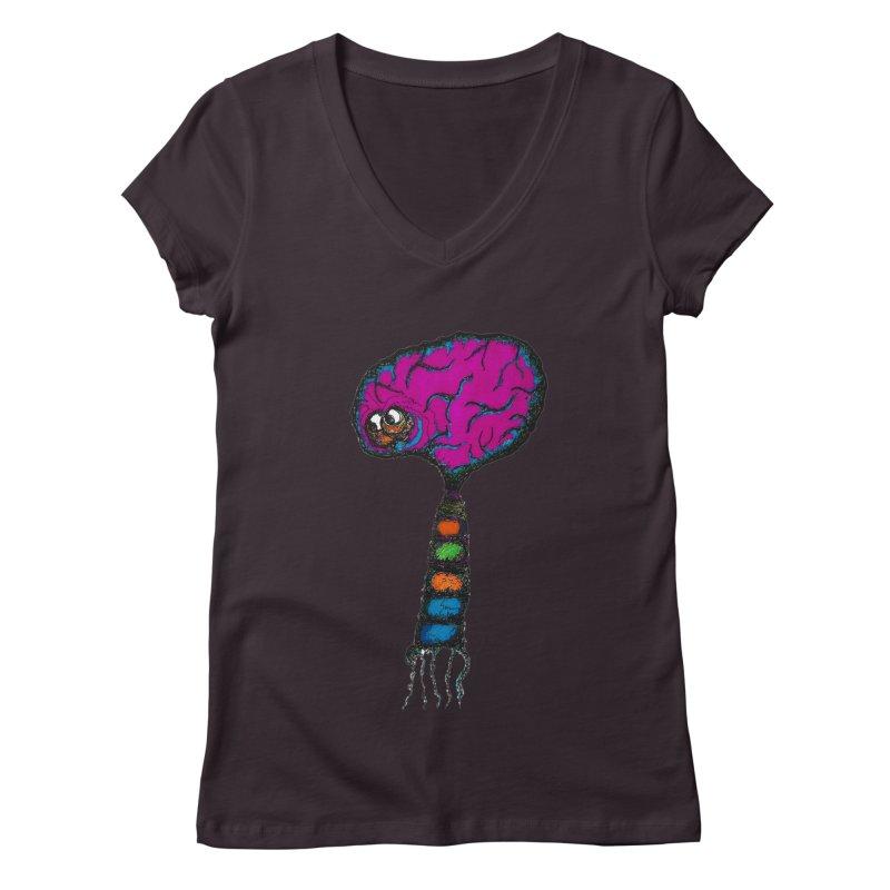 Brainiac Women's V-Neck by Baston's T-Shirt Emporium!