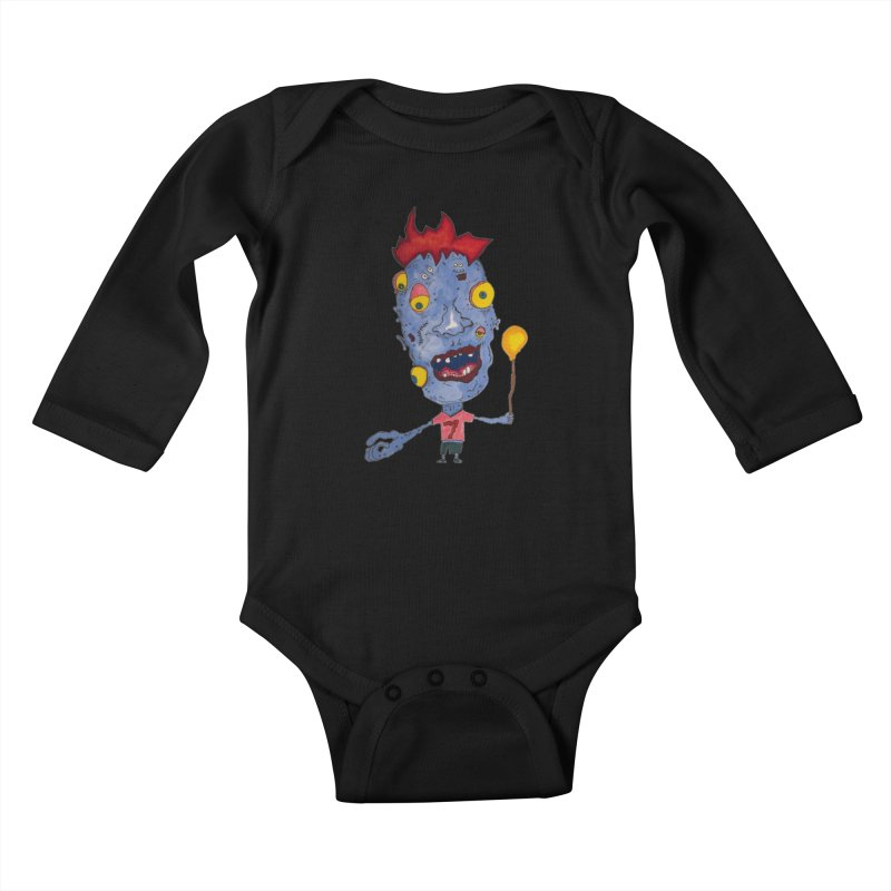 Wonder Boy! Kids Baby Longsleeve Bodysuit by Baston's T-Shirt Emporium!