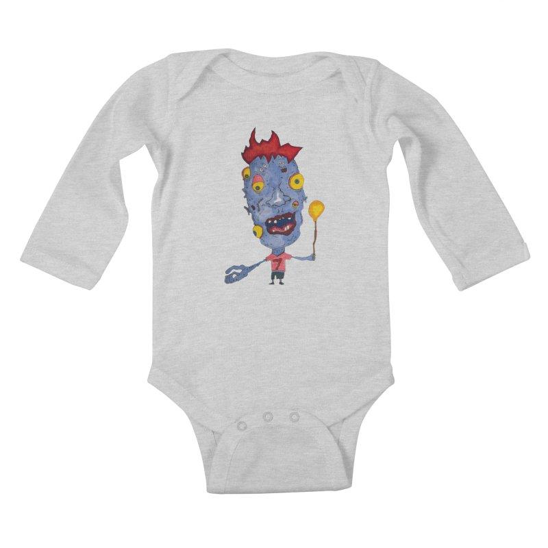 Wonder Boy! Kids Baby Longsleeve Bodysuit by Baston's T-Shirt Emporium!