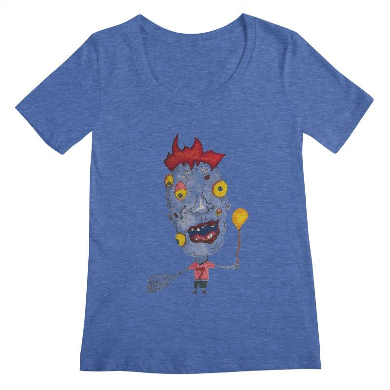 Wonder Boy! Women's Scoopneck by Baston's T-Shirt Emporium!